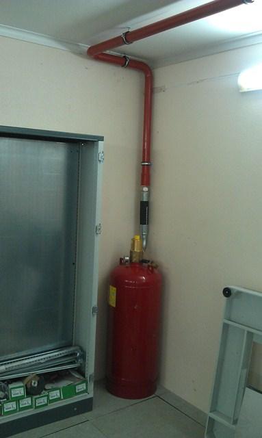 В ЦОД-е установлена автоматическая установка пожаротушения